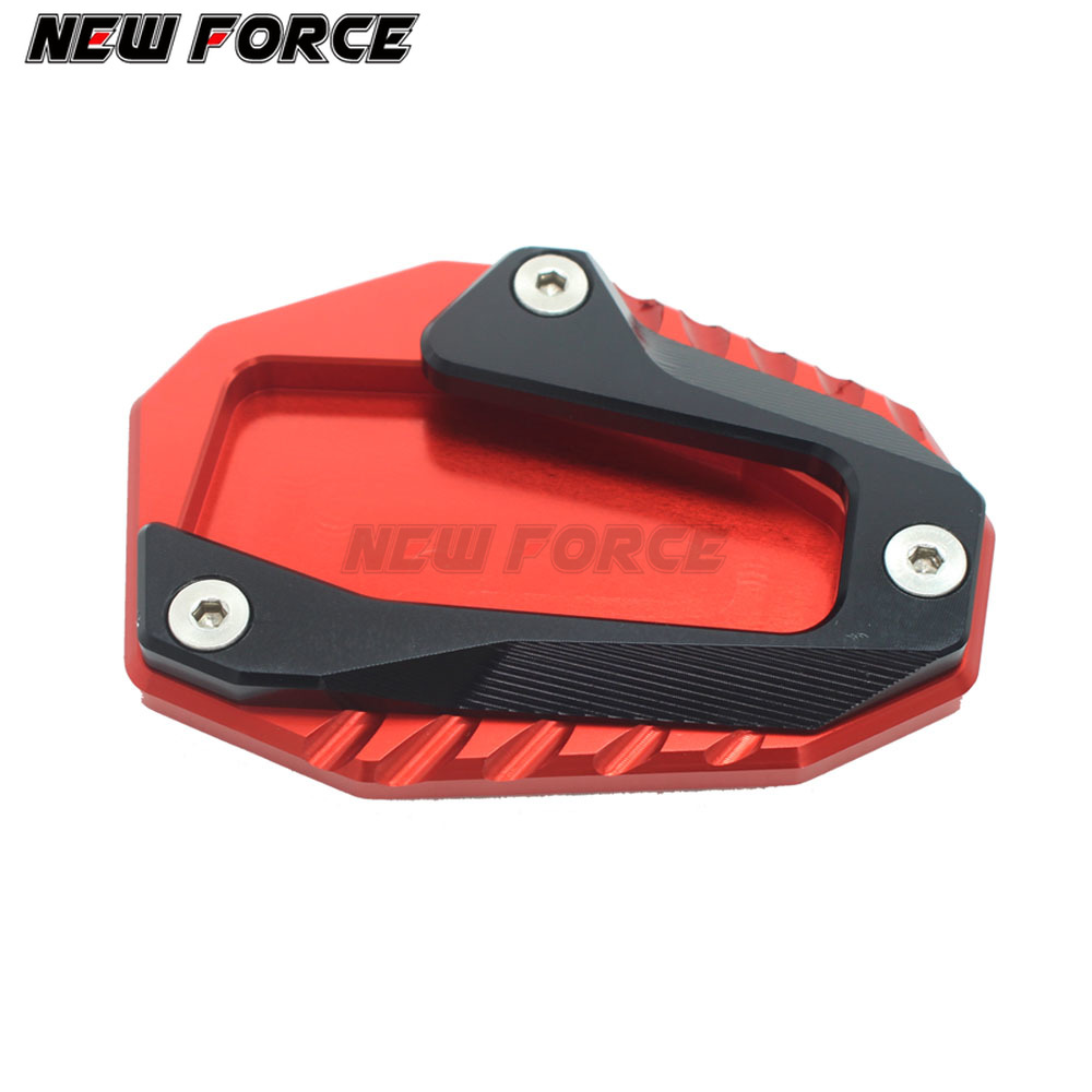 Motorcycle Side Kickstand Kic Stand Extension Plate Pad For DUCATI Hyperstrada 821 939 Hypermotard 821 //SP 821//796//939 2010-2017 Color : Red