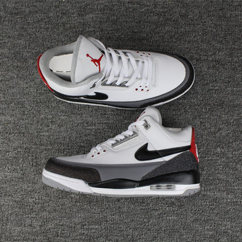 Nike-Air Jordan 3 Tinker Mens Sneakers, Basketball Shoes, Comfortable Outdoor Shoes, Black and White Cement Size 41-47