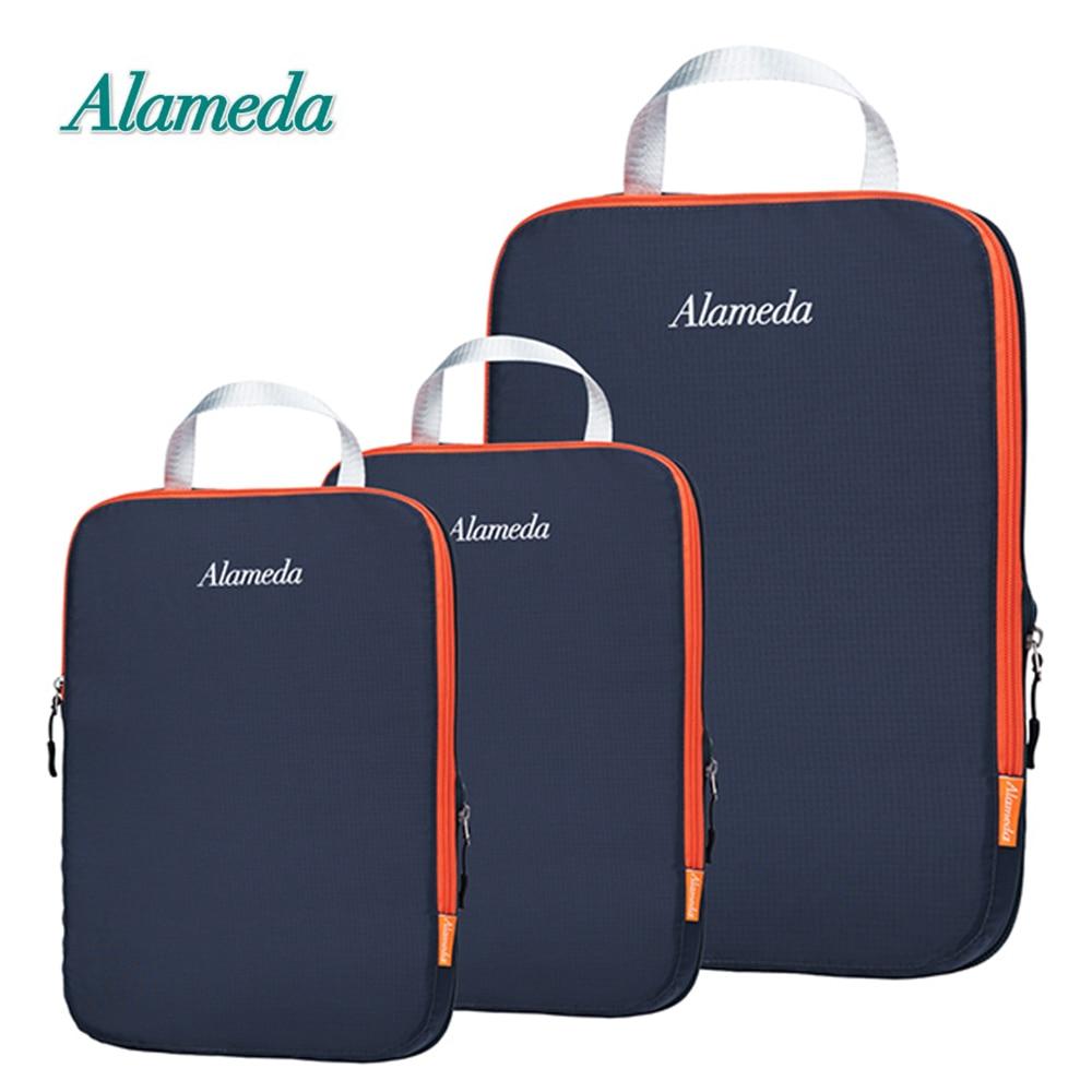 Alameda Travel Storage Bag Suitcase Luggage Waterproof Compression Packing Cubes Set Folding Clothing Organizer Cube Bag