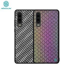 Image 1 - מקרה עבור Huawei P30 NILLKIN נצנץ רעיוני אופנה טלפון מקרה TPU מסגרת מחשב תחתון מעטפת נטו בד חזרה כיסוי עבור huawei P30