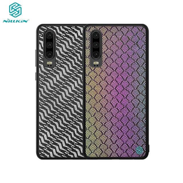 מקרה עבור Huawei P30 NILLKIN נצנץ רעיוני אופנה טלפון מקרה TPU מסגרת מחשב תחתון מעטפת נטו בד חזרה כיסוי עבור huawei P30