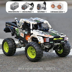 Image 3 - MOC 3320 Technic Car Compatible With 42099 Energy Recoil Baja Truck Building Blocks Assembly Bricks Toys Kids Christmas Gift