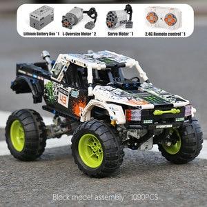 Image 3 - MOC 3320 voiture technique Compatible avec 42099 énergie recul Baja camion blocs de construction assemblage briques jouets enfants cadeau de noël