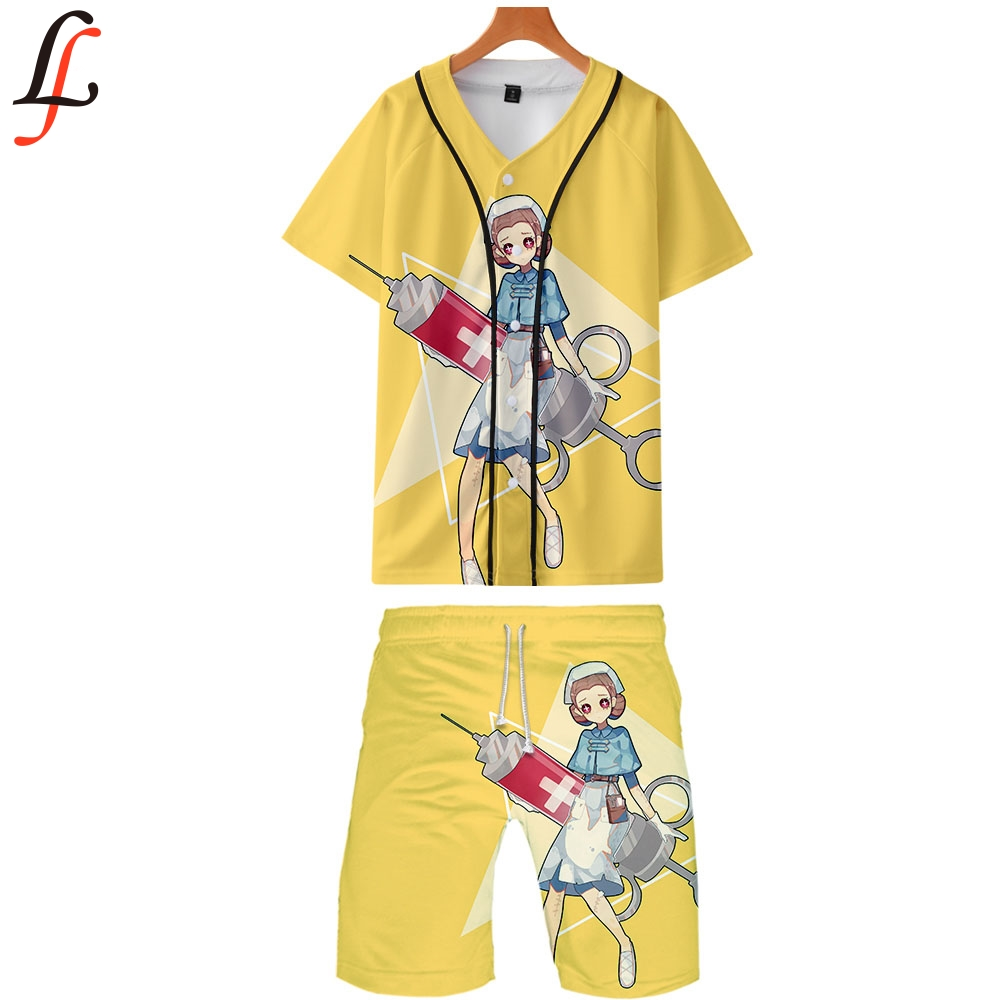 Fifth Personality Summer Men Causal Beach Suits Short Sleeve Shorts Sweatsuit+Pants Quick-dry Tracksuit Sports Suits Sportswear
