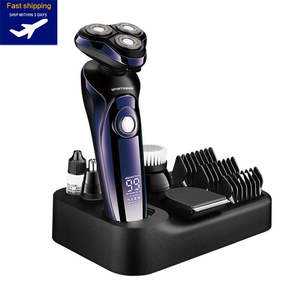 Electric-Shaver Grooming-Kit Shaving-Machine Hair-Trimmer Beard Lcd-Display Bald Rechargeable