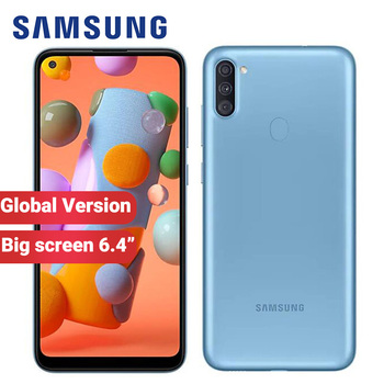 "Globla Samsung Galaxy A11 Mobile Phone 32GB ROM 2GB RAM A115F/DS 6.4"" 4000mAh Triple main Camera 13MP Android 10 Smartphone"