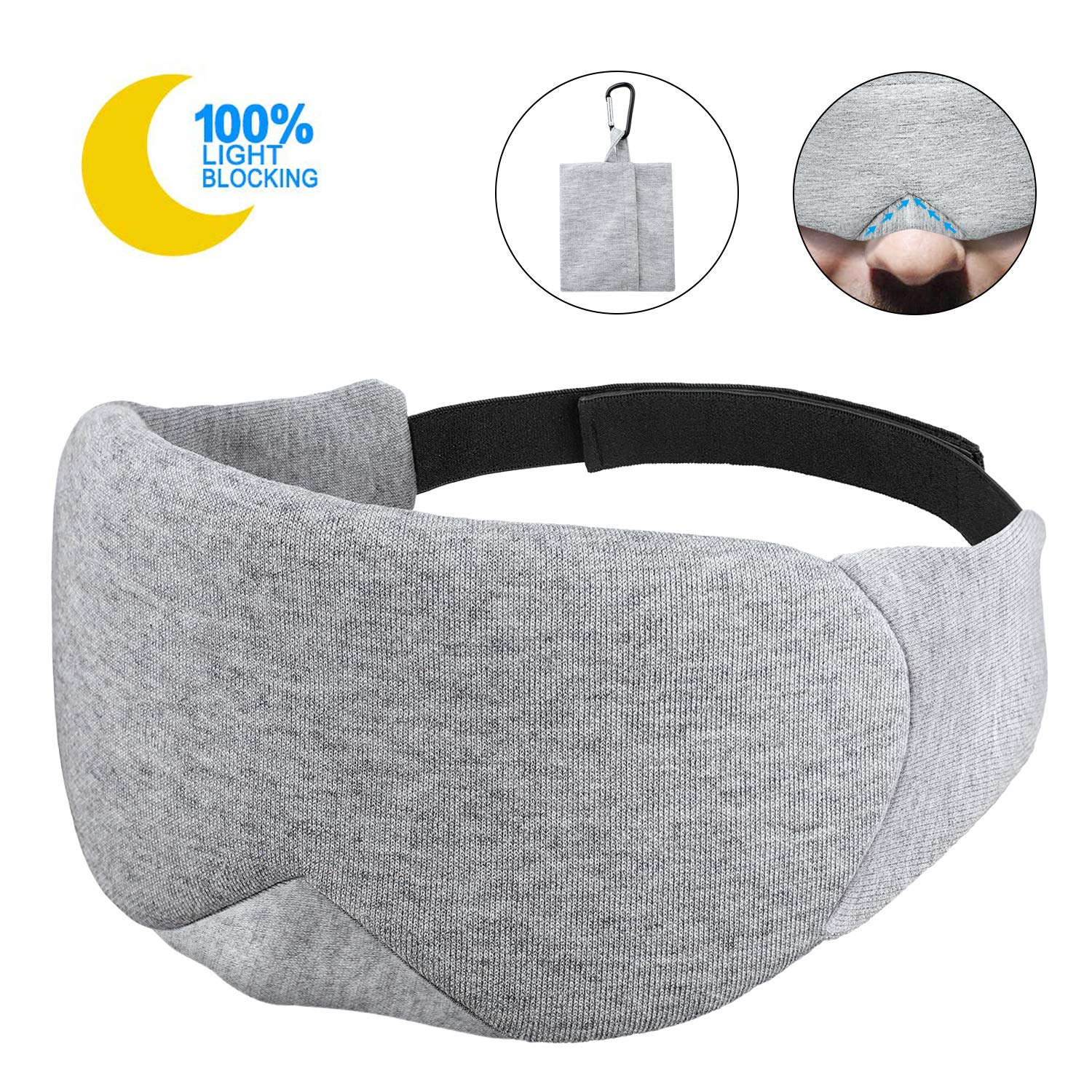 Sleep Mask Fast Sleeping Eye Mask Eyeshade Cover Shade Patch Women Men Soft Portable Blindfold Travel Slaapmasker Eye Care Tool