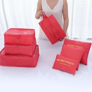 Image 2 - 7 pièces/ensemble bagages sac de voyage valise vêtements sac de rangement cosmétiques emballage cube organisateur bagages voyage bagages sac accessoires