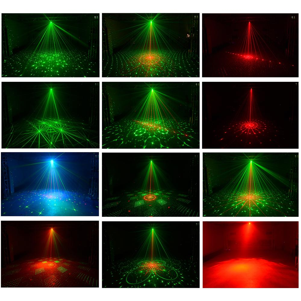 Image 2 - New LED disco light USB rechargeable RGB laser projection lamp with wireless controller effect stage lights party DJ KTV ball-in Stage Lighting Effect from Lights & Lighting