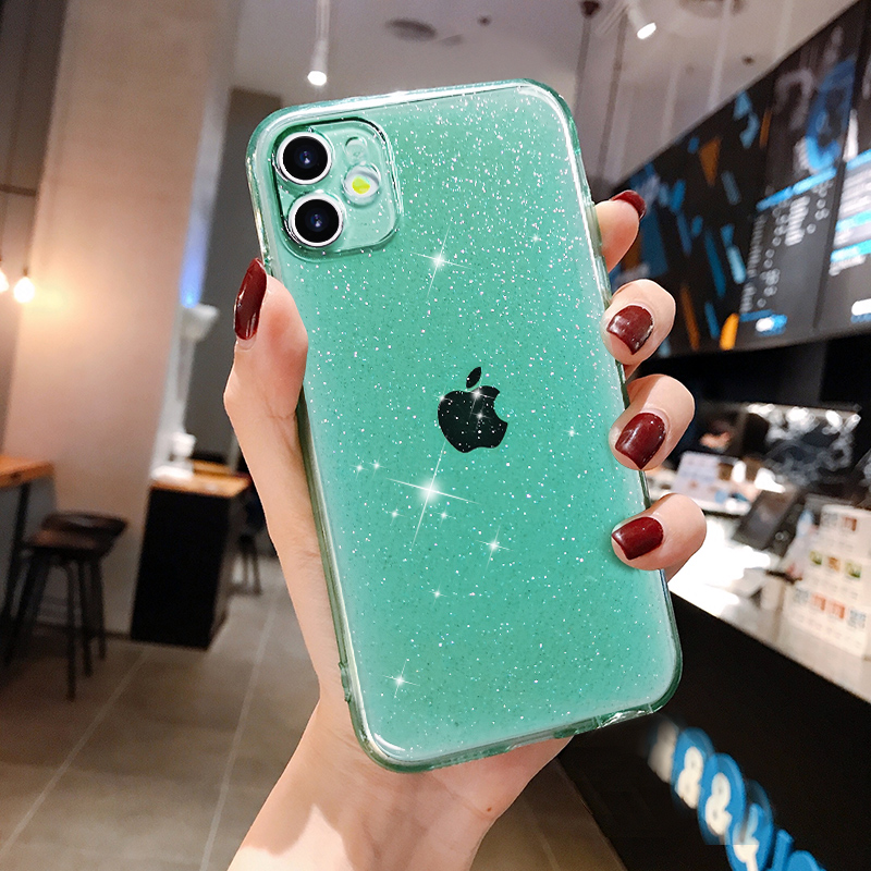 Luxury Candy Transparent Phone Case For iphone 11 12 mini Pro Max XS X XR 7 8 plus SE 2021 Soft Silicone Shockproof Cases Cover 6