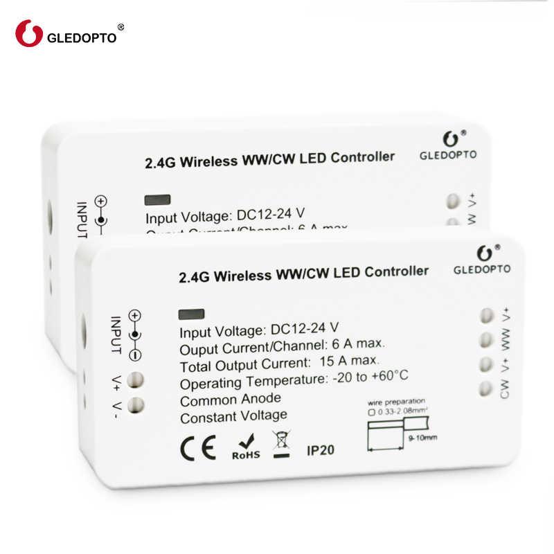 Controlador Led de puente ZIGBEE ww/cw controlador de tira de atenuación DC12/24 V zll led estándar