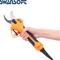 SWANSOFT 21V Cordless Pruner Lithium-ion Pruning Shear Efficient Fruit Tree Bonsai Pruning Electric Tree Branches Cutter