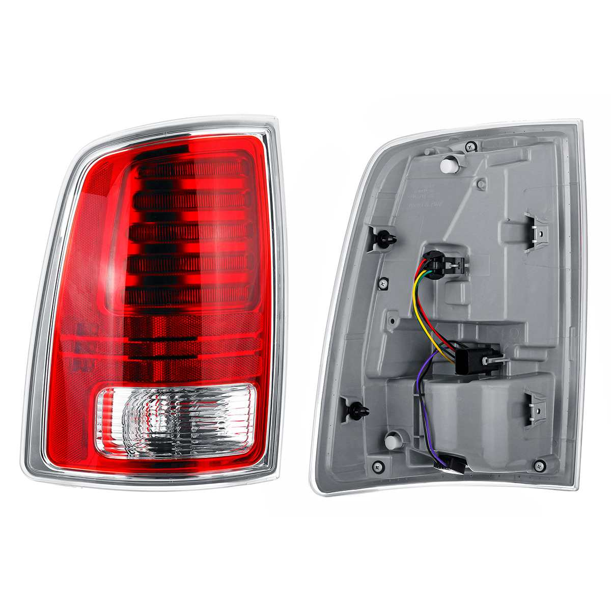 AUDEW 1Pc Left/ Right Car LED Tail Light Rear Lamp 12V For Ram 1500 Classic 2014 2018 Tail Light Warning Lights Rear Lamps Taill