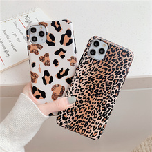 Leopard print sexy case on for coque iphone 11 Pro 8 7 Plus X S capa iphone XR X XS Max brown spot cartoon soft cell phone cover