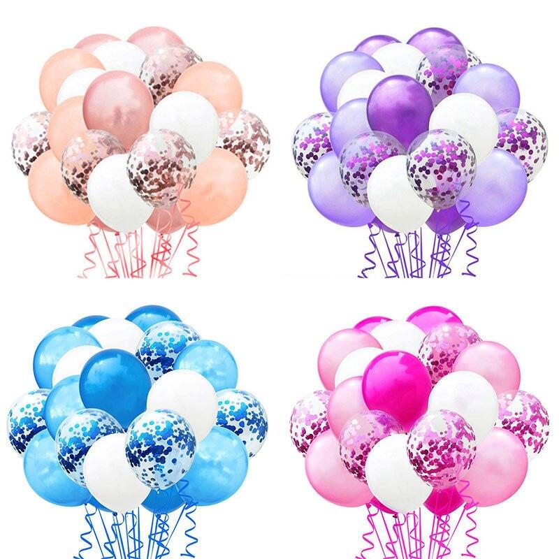 20pcs/set Metallic Confetti Air Balloons Happy Birthday Party Decorations Kids Baby Shower Babyshower Boy Girl Supplies