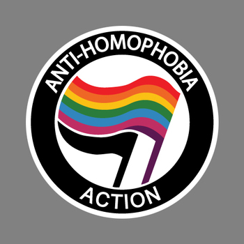 Anti Homophobia Decal Diecut Sticker Laptop Bumper Car Equality Gay Pride image