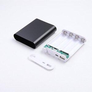 Image 4 - 5 צבעים מתכת בנק כוח DIY ערכת אחסון מקרה תיבת משלוח ריתוך חליפת 4X 18650 סוללה 5V 2.1A USB חיצוני מטען חכם טלפון