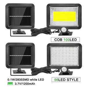 Image 2 - 56 LED Solar Light Outdoor Indoor Garden Lights Waterproof PIR Motion Sensor Wall Lamp Separable Solar Lamp With Line
