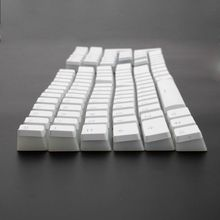 RGB 108 Keycaps ANSI макет PBT белый пудинг двойной кожи молочный снимок с подсветкой Keycap для OEM Cherry MX gh60 покер 87 tkl 104 108
