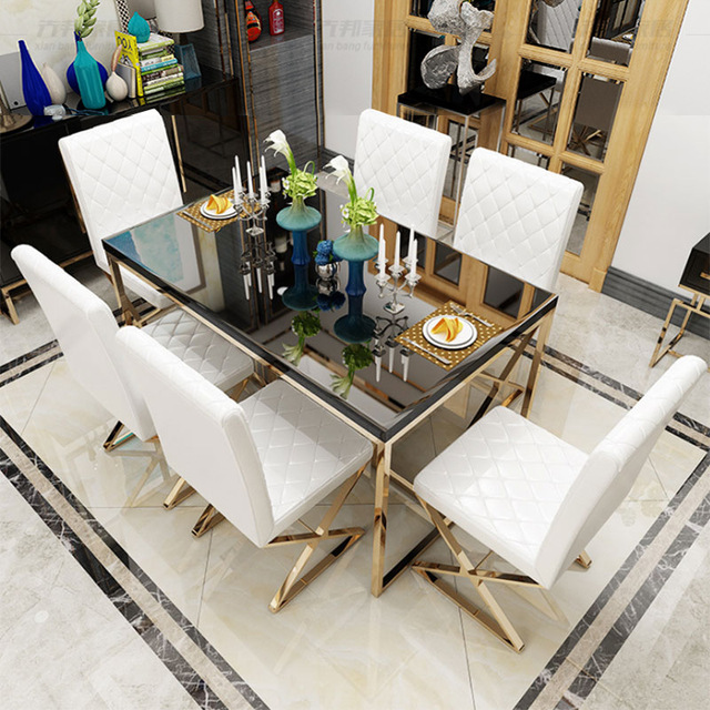 Light Luxury Dining Table and Chair Set  4