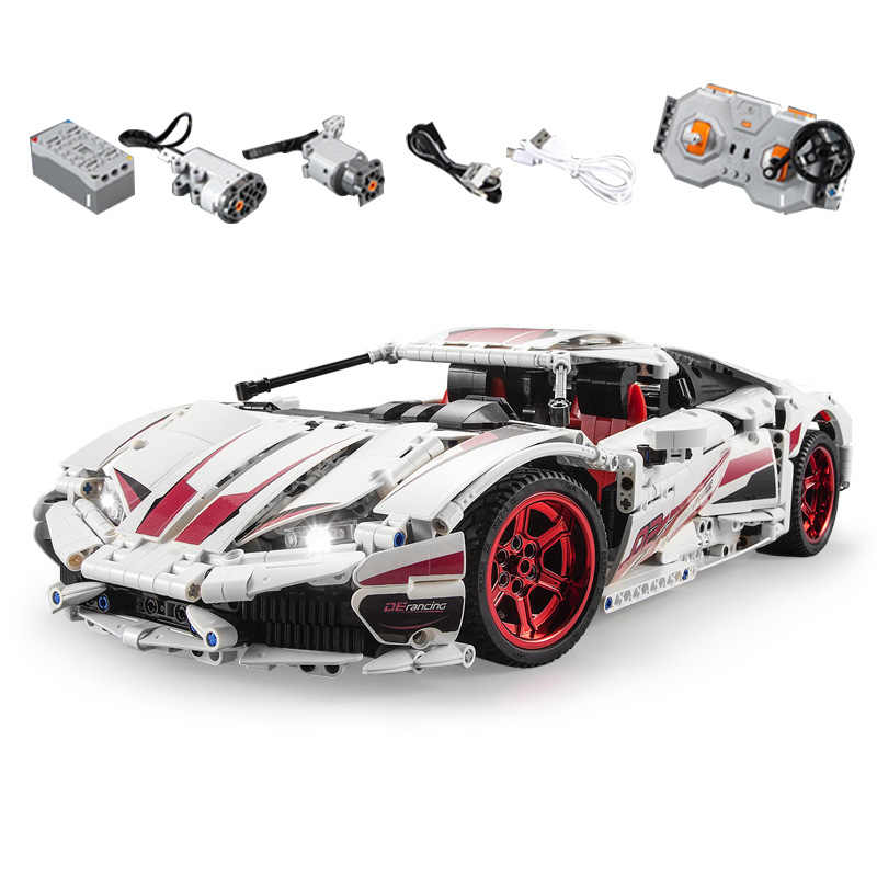 Technic Motor Cars The Huracan LP 610 Super-Car Set Model Racing Car Building Blocks Bricks Kid RC Car Toys Gift compatible lego