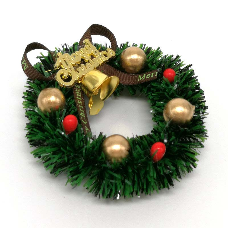 1//12 Dolls House Mini Hanging Xmas Wreath /& Tree Dollhouse Christmas Tree