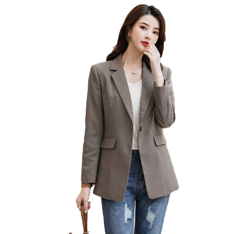 New 2020 Spring Fall Women Stripes Blazer And Jackets Office Ladies Work Wear Clothes OL Styles Blazer Casual Long Clothes Coats