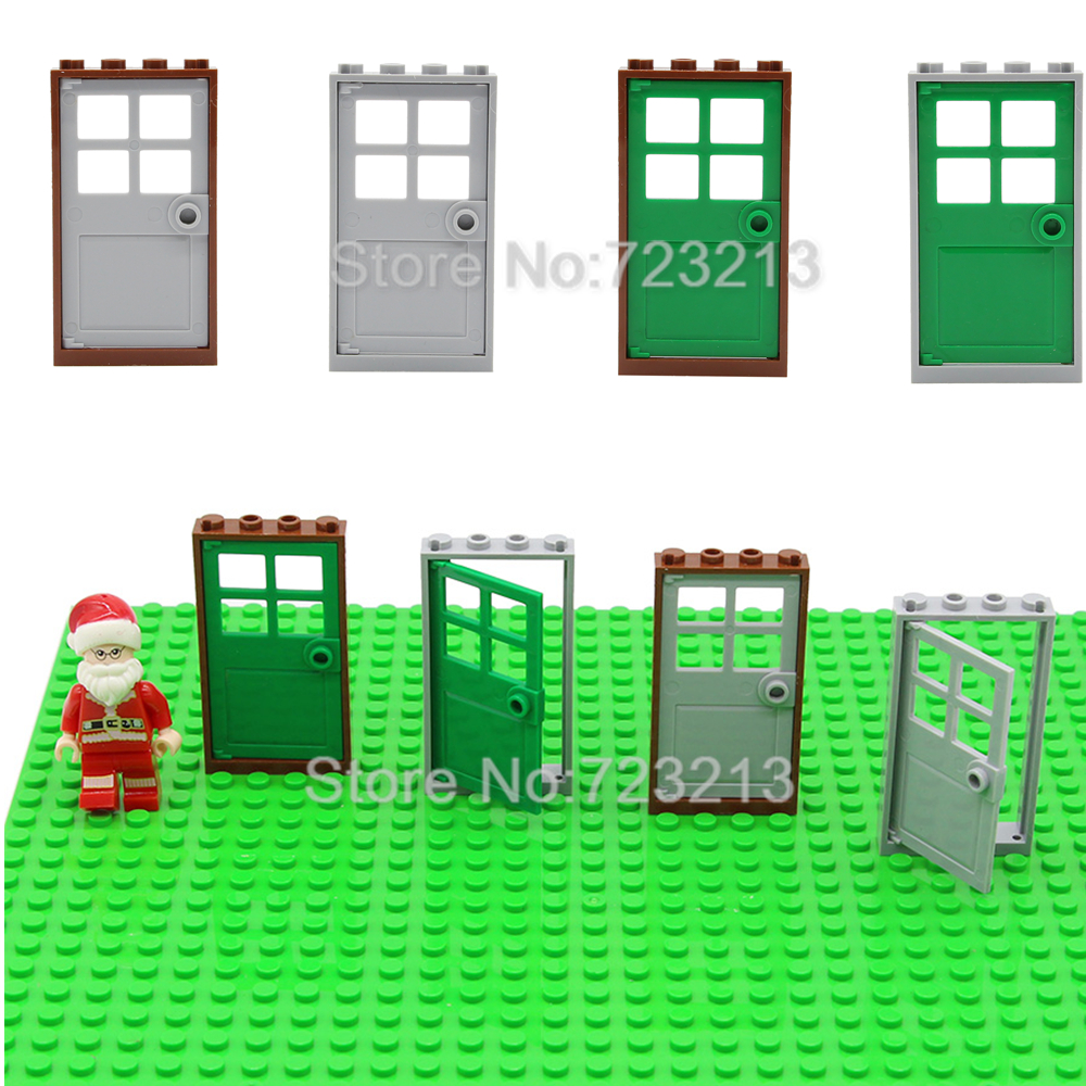 10pcs/lot Door Windows Set House MOC Brick Accessories Parts Building Blocks Assemble Bricks Toy Model Kits Toys Legoing
