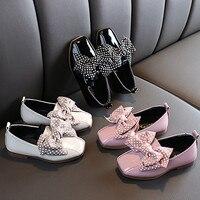 girls shoes polka dot bow cute black 2019 autumn prinses schoenen meisje children