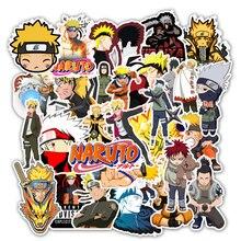 Autocollants de dessins animés japonais Naruto sasuke, pour Snowboard, ordinateur portable, réfrigérateur, style de voiture, 50 pièces/lot