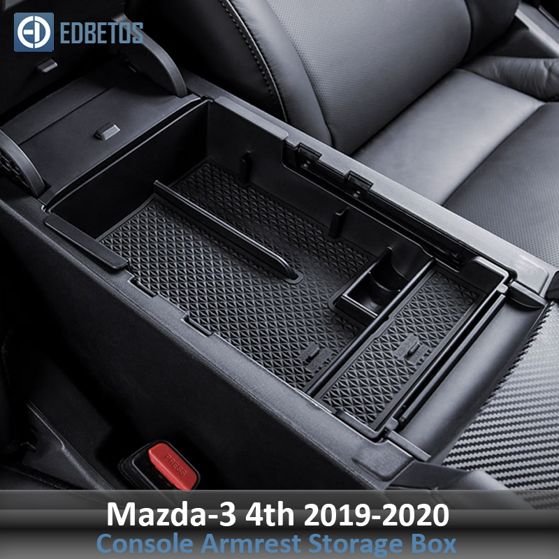 Glove-Box Organizer-Tray Armrest Storage Center-Console Interior-Accessories Mazda  title=