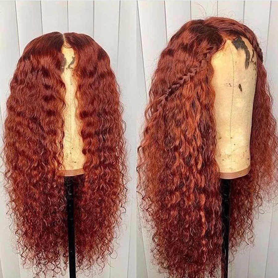 Bestsojoy Ginger Orange Lace Front Wig Kinky Curly Colored Human Hair Wigs For Black Women  Honey Blonde Remy Human Hair Wig