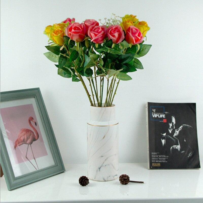 Искусственные цветы розы bract искусственный цветок Шелковая Роза DIY свадебный домашний Рождественский Декор ваза цветы Роза подарок для выпускника|Искусственные растения|   | АлиЭкспресс