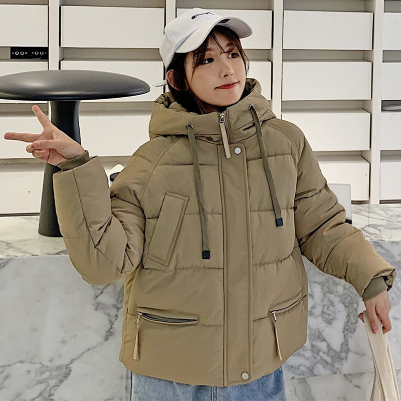 2019 New Arrival Winter Jacket Women Hooded Stand Collar Female Padded Coat Short Parka Chaqueta Mujer Invierno|Parkas| |  - title=