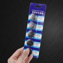 25PCS batteria a bottone CR2430 3V batterie elettroniche a bottone al litio DL2430 BR2430 ECR2430 KL2430 EE6229 orologio giocattolo cuffia