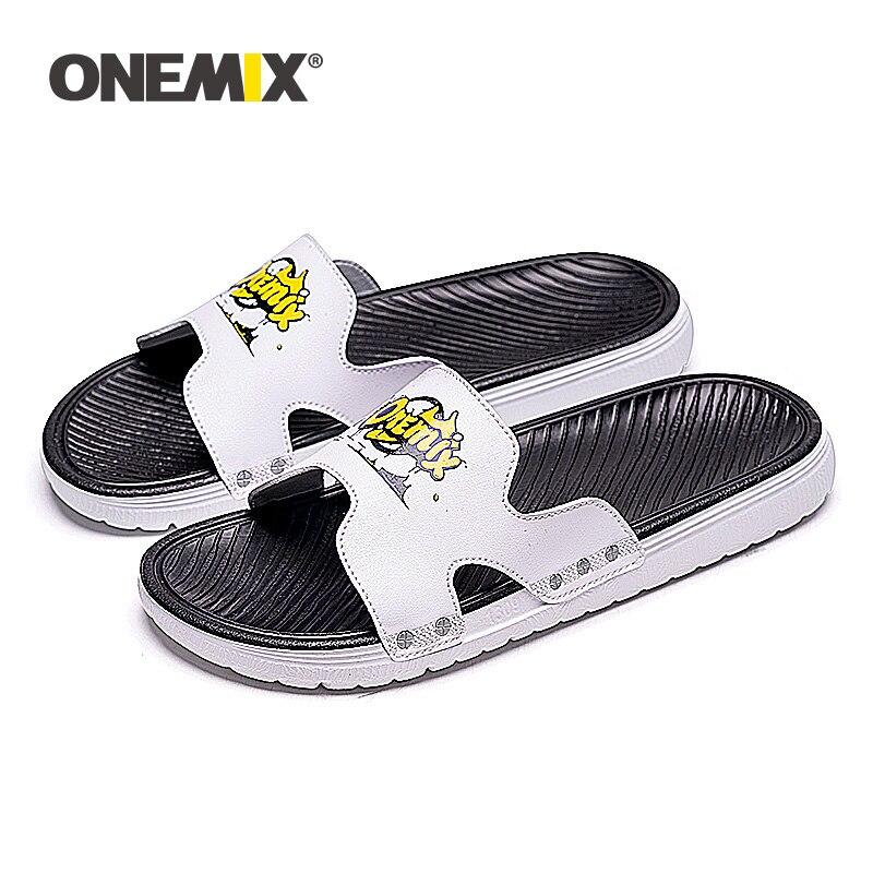 ONEMIX Summer New Sandals For Men Beach Shoes Comfortable Lightweight Slip On Outdoor Walking Wading Footwear Male Flip Flops