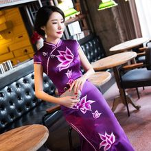 tailor shop custom made  bespoke chinese dress   mother of  bride dresses  embroidery qipao  embroidery chinese dress  cheongsam