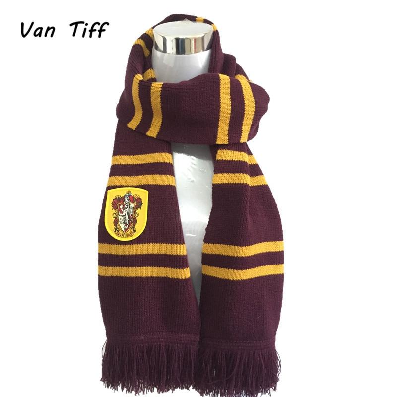 Hogwarts School Scarf Gryffindor Ravenclaw College Hermione Scarves Slytherin Hufflepuff Neckerchief For Women Men Boy