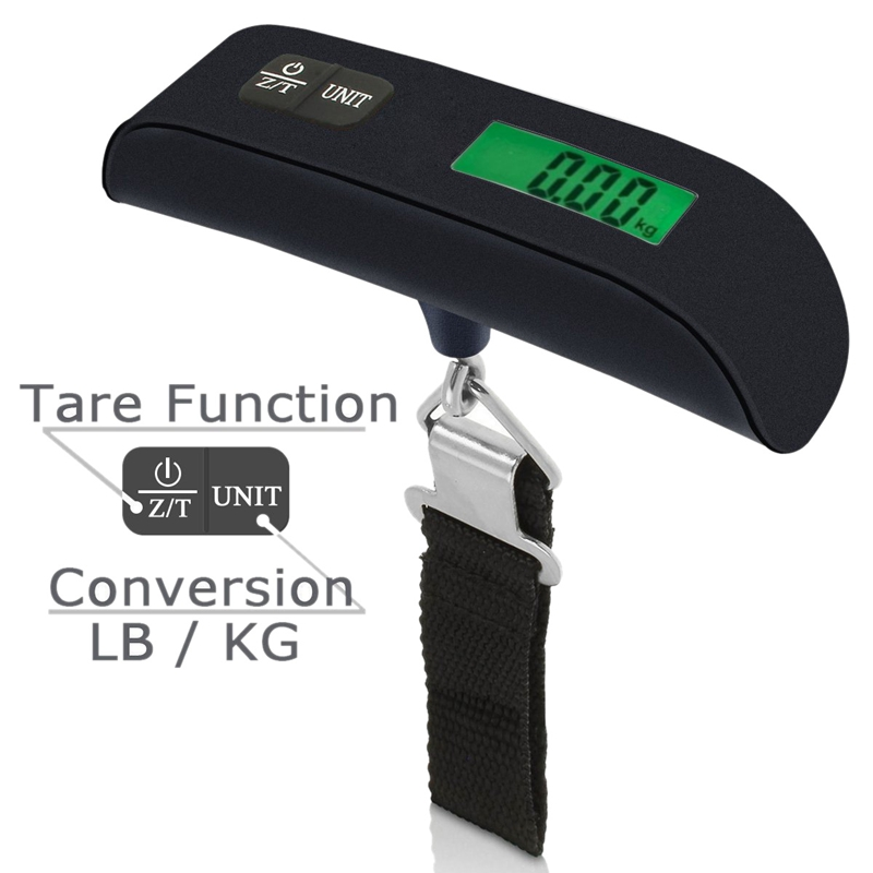 Digital Scale with LCD Backlight Portable Best for Travel (Black)|Bathroom Scales|Home & Garden - title=
