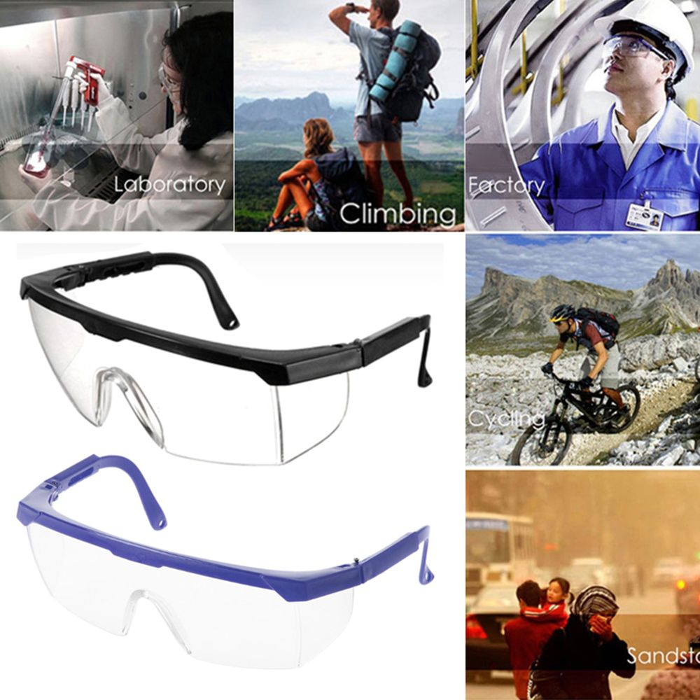 Flexible Anti-impact Dustproof Lab Factory Safety Glasses Outdoor Work Eye Protective Spectacles Windproof Anti-fog Safety Goggl