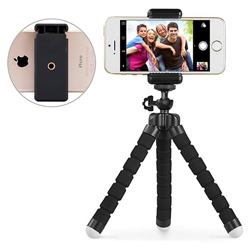 Universal Phone Holder Sponge Tripod Octopus Stand Octopus Tripod for iPhone 11 8 7 6s plus 5 X XR XS MAX 11pro MAX Phone Holder