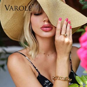 Image 5 - VAROLE Chain Female Bracelet Gold Color Cuff Bangles For Women Jewelry Gifts  Noeud Armband Pulseiras