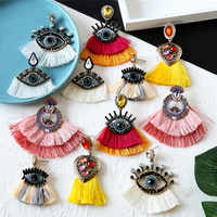 Pauli Manfi 2020 New Women Earings Fashion Jewelry Simple Temperament Multi-layer Acrylic Multicolor Earrings