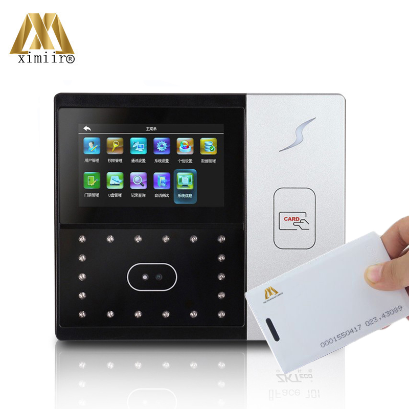 Standalone 4.3'TFT Touch Screen RFID Card Reader TCP/IP Camera ZK Iface701 Face Access Control And Time Attendance Machine
