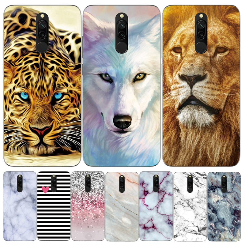 For Xiaomi Redmi 8 Cover 6.22'' Silicone Soft Tiger Phone Case Cover For Xiaomi Redmi 8 Case Redmi8 TPU Funda Fashion 8Redmi