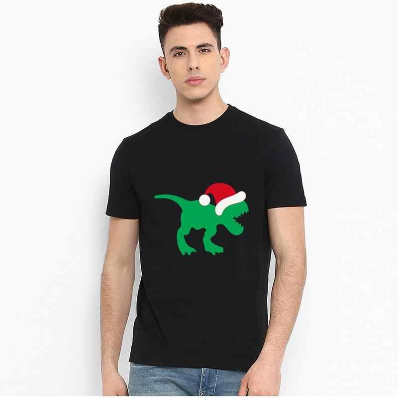 Nouveau Style de noël. Noël dinosaure chapeau de noël t-shirt s-13xl coton reine chemise Unique hommes t-shirts