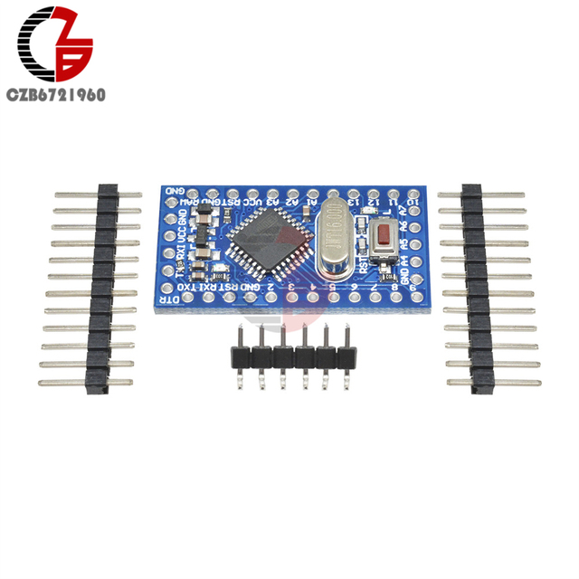 10Pcs Pro Mini Atmega168 Mini ATMEGA168 Crystal Oscillator Board Module 16M 5V for Arduino Nano Replace Atmega328 Hot Sale
