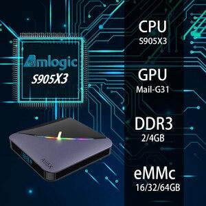Image 3 - A95X F3 8K RGB Light  Android 9.0 TV Box Amlogic S905X3 4GB 64GB Dual Wifi 4K 60fps Youtube Set top box media player