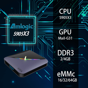 Image 3 - TV Box A95X F3, Android 9,0, 8K, con luz RGB, Amlogic S905X3, 4GB, 64GB, wi fi Dual, 4K, 60fps, Youtube, reproductor multimedia