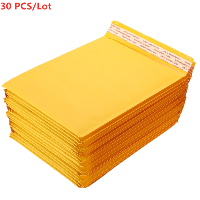 30PCS/Lot180x230mm Kraft Paper Bubble Envelopes Bags Mailers Padded Shipping Envelope With Bubble Mailing Bag Drop Shipping